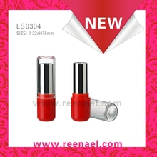 Round shape lipstick container with clear cap/lip balm case