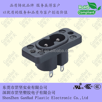 good quality of IEC C8 AC inlet socket