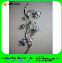 Hand Forged Flower Style Wrought Iron Panels For Fencing & Stairs Railings Decoration