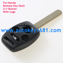 remote key shell for honda 3+1button car key case cover without chip groove with logo