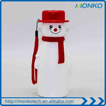 New Design Snowman Cartoon Portable Emergency Mobile Phone Charger