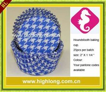 Blue Houndstooth baking paper cup,cupcake liner.