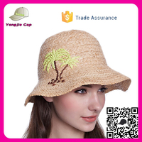 Handmade Fashion Summer Bowknot Hats small brim raffia straw hat for women