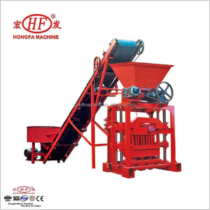 semi automatic single hopper interlocking paver brick making machine for sale