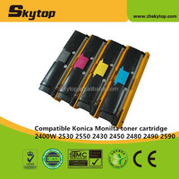 Skytop Compatible Konica Minolta copier toner cartridge KM2400 OEM 1710587004/1710587007/1710587006/1710587005 with chip