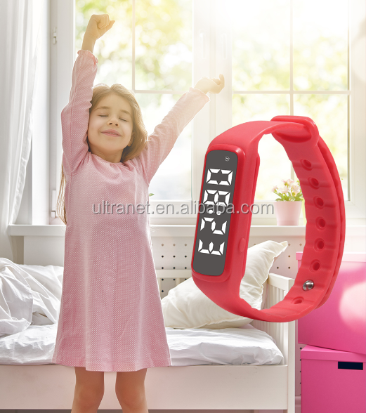 24 hours step counter sleep monitor colorful pedometer kids smart watch