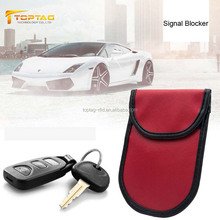 Real Leather Material RFID Signal Blocking Keyless Go Car Key Case