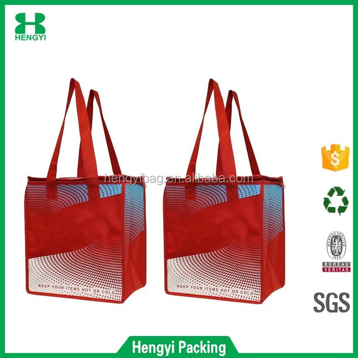 Grocery Cooler bag with Zipper closure for temperature control and drawstring cooler bag