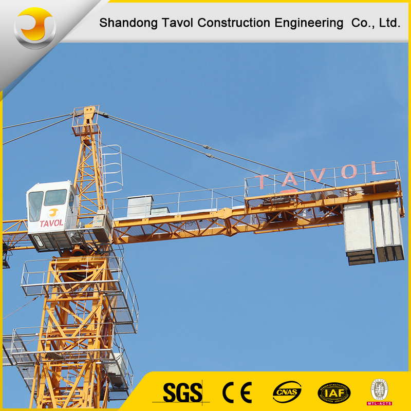 Building Construction site generally using Model QTZ80 tower cranes