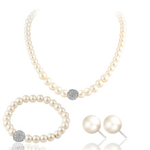 fashion new simple design pearl necklace set for women shop jewelry set Wholesale N800195