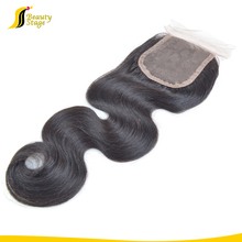 High quality middle part and free style 4*4 top closure human hair