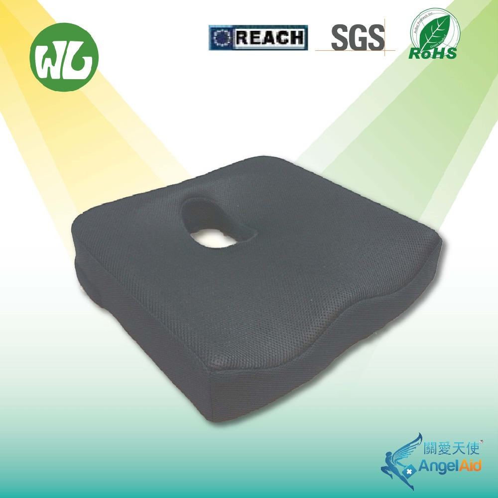 Ergonomic memory foam breathable coccyx seat cushion
