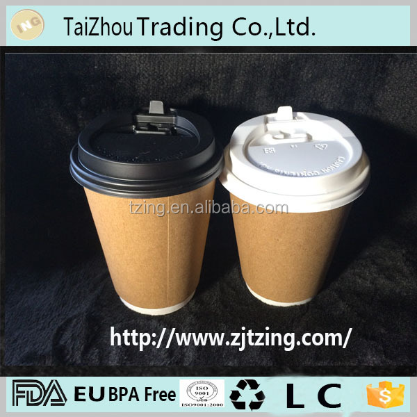 T-90mm paper coffee cup lid plastic lid - 90mm PP plastic white clear lid