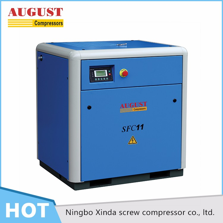 SFC11A 11KW/15HP 7 bar AUGUST stationary air cooled screw air compressor for sale