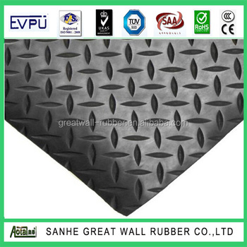 Great Wall China Factory Manufacture Anti-slip Flooring Willow Rubber Sheet