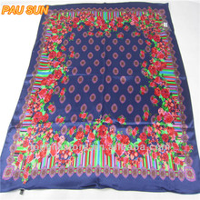 Hot fashion large squarecustom silk scarf islamic scarf wholesalers