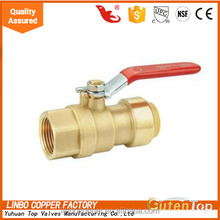 Linbo-1 sharkbit series Two ball valves linbo copper lead free customized copper content linbo ball brass water valve