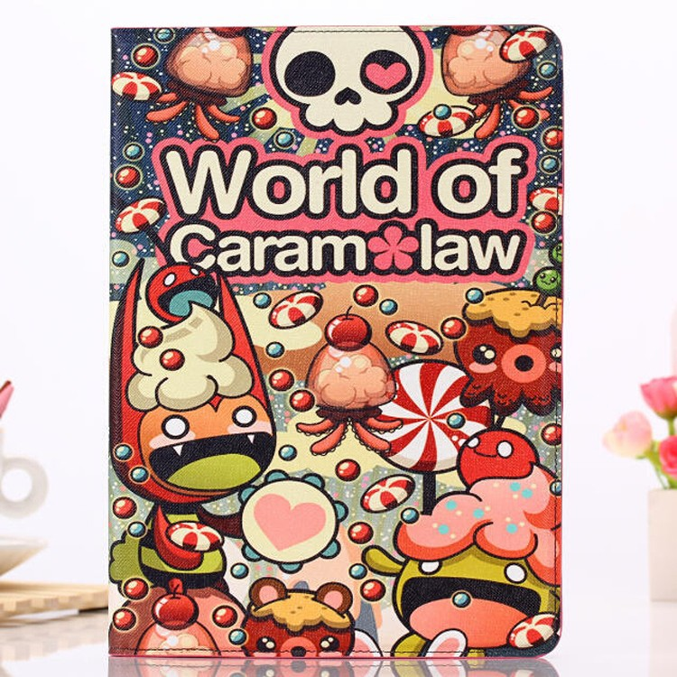 Cute cartoon tablet flip stand leather case for iPad air 2