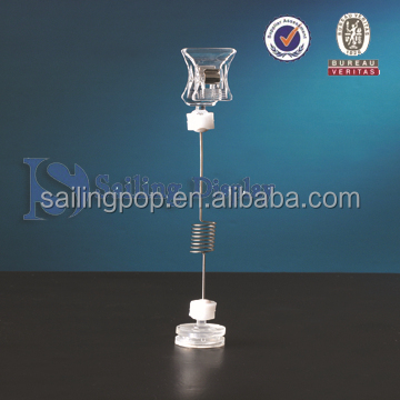 plastic wobbler clip with magnetic base for supermarket promotional display