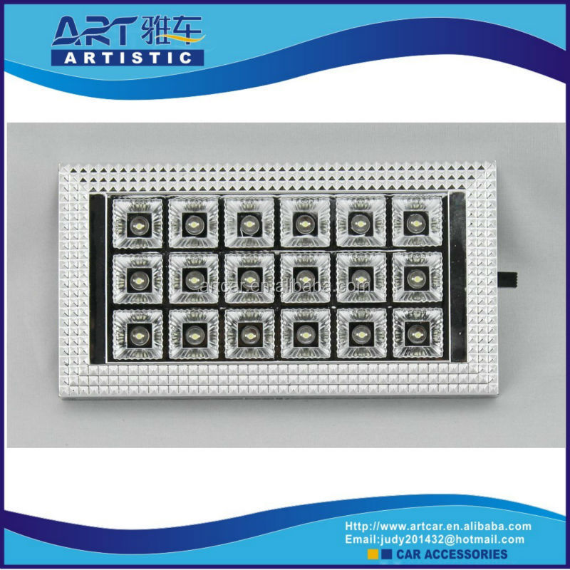 good selling 6112 car interior roof light 12v
