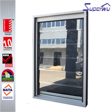 Gold supplier silver color aluminium glass louvers window with 10 years warranty good price of glass louver