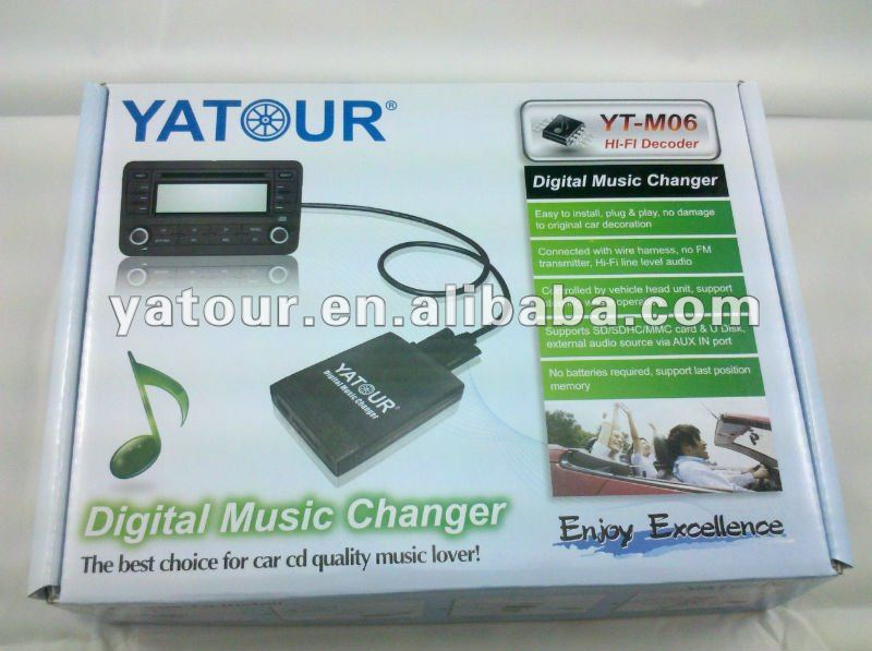 Yatour iphone/i-touch/ipod adapter for car stereo