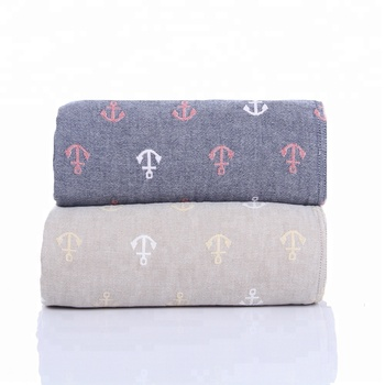 Alibaba cheap wholesale 100% cotton gauze double bed blanket for travel