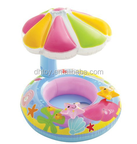 Star shape inflatable baby care seat