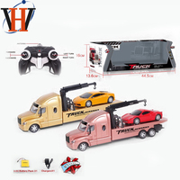 Truck toy rc car truck trailer radio control toy trucks with light