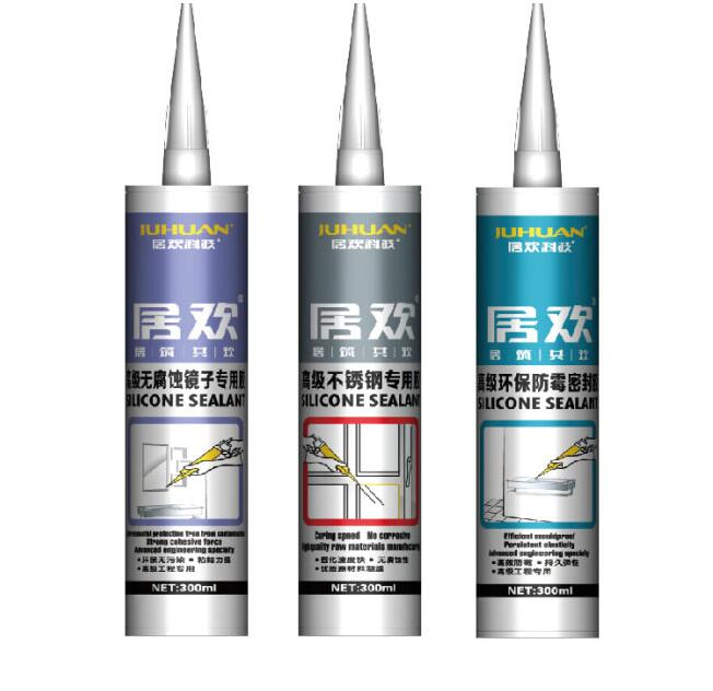 JUHUAN weather fastness silicone structual sealant clear glue for marble