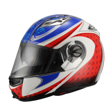 2015 New fashion style modular flip up dual visor helmet JX-A113