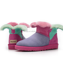 Clover New Colorful Wool Women's Snow Boots Shoes