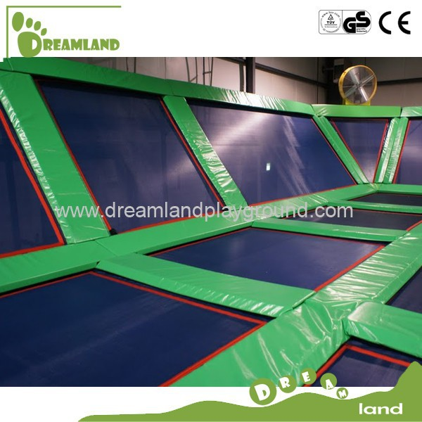 large sized easy assembly indoor trampoline bed