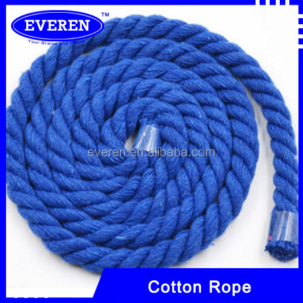 Soft cotton braided rope knit colored cotton rope
