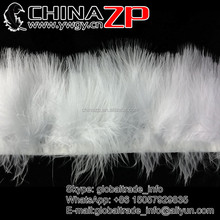 Wholesale Cheap SNOW WHITE Marabou Turkey Fluff Feather Fringe Trim