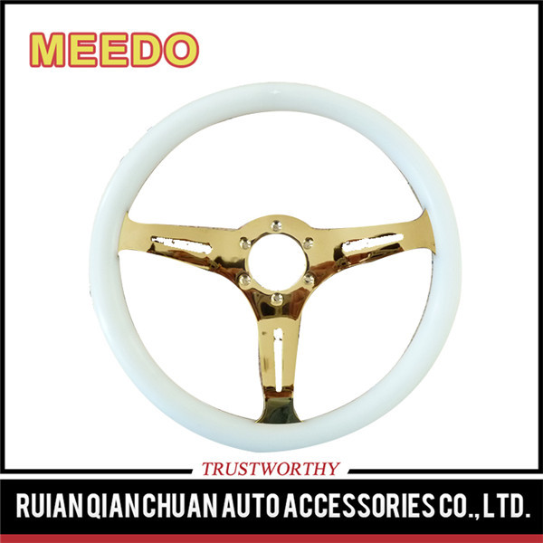 Compact low price guaranteed quality 14inch plastic steering wheel
