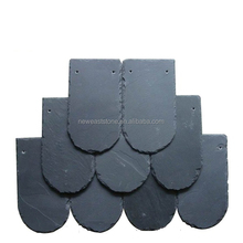 natural fish scale shape black slate roofing tiles for roof coating