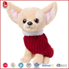 Cute mini plush dog chihuahua toy dressed