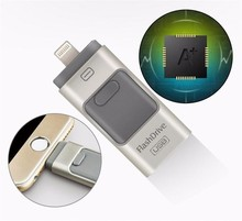 Mobile phone Pen drive USB 16GB Memory Stick usb flash drive 3 in 1 for iPhone IOS Android PC