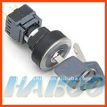HBC16/22 series 3 postion electrical key switch ultrathin 1NO+1NC IP65 key push button switch