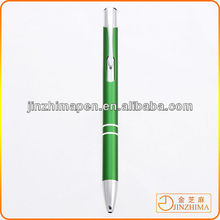 Cheap Vivid color promotional anodized aluminum pen, logo printing ball pen