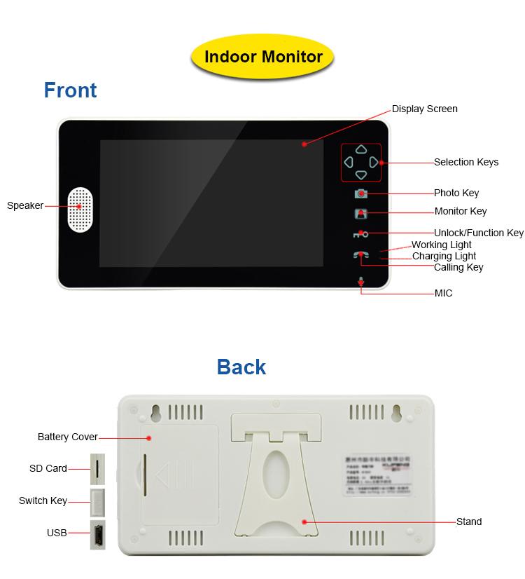 7 inch door video phone smart door bell with camera wireless doorbell