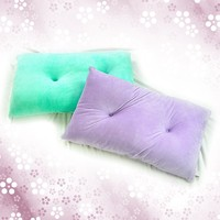 Rectangular cushion with four way stretch short floss cover-with holes
