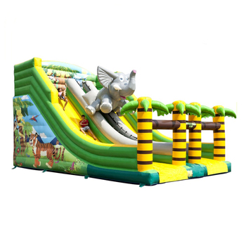 Giant Adults Bounce House Jumbo Bouncer Jungle Kids Jumping Castles Inflatable Elephant Water Slide For Sale For Kids