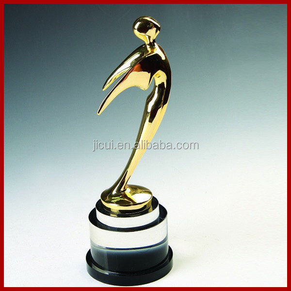 Super Hight Quality Custom Metal replica oscar trophy awards buy Oscar trophy with crystal base