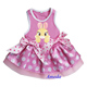 Easter Light Pink Polka Dots Brown Bunny Rabbit Party Dress Pet Dog Clothes XS-L