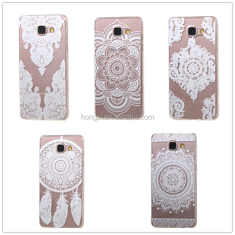 Case For Samsung Galay A3 2016 A310 A310F Hollow Out Teture Drawing Phone Cover Soft silicone tpu Transparent Phone Cases