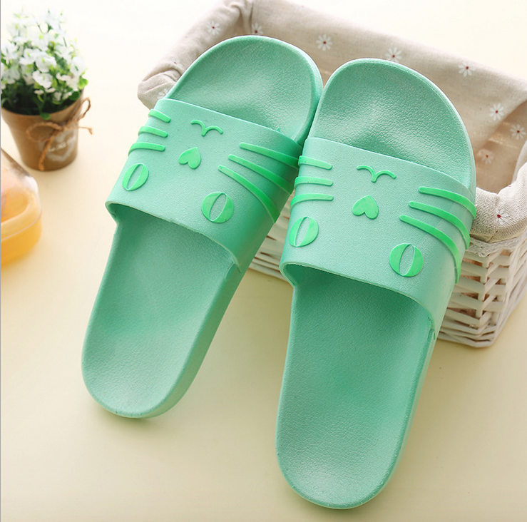 Bathroom lovers home slippers massage pvc light slipper sandals custom slides