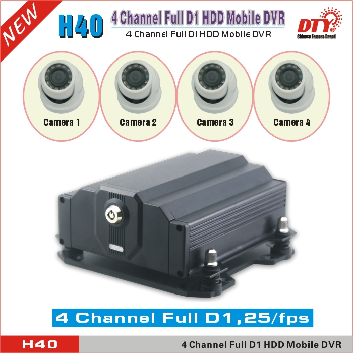 Bus fleet management 4ch HDD SD 3G remote control monitor dvr 4 ch veicular ,H40 series