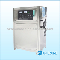 Ozone generator laundry equipment for sanitizer with air and oxygen feeding